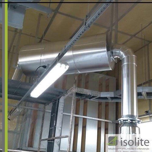 Isolamento térmico para tubulações de vapor