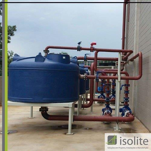Montagem hidráulica industrial
