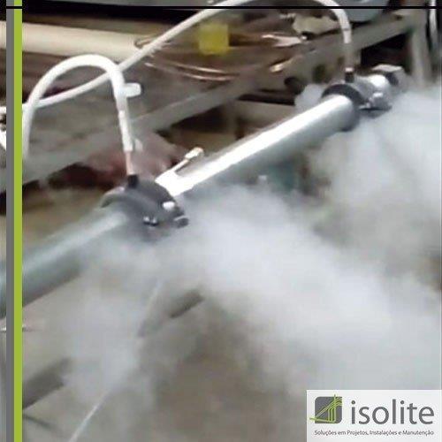Congelamento de tubulação de água gelada