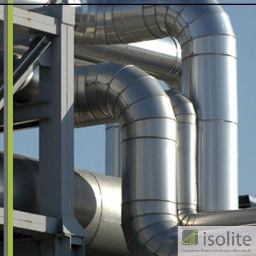 Isolamento termico para tubulações de vapor