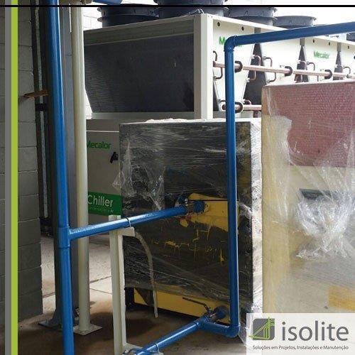 Montagem de tubulação de ar comprimido