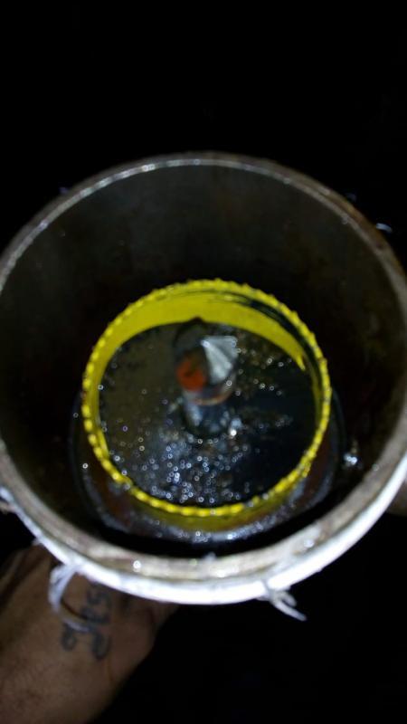 Trepanação em água gelada