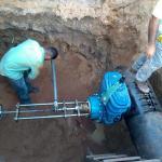 Trepanação em água industrial